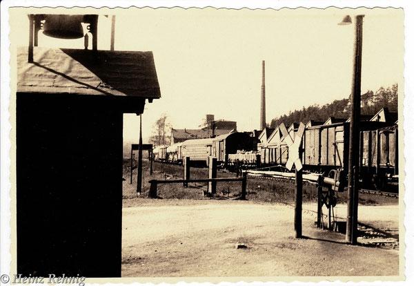 Zugentgleisung in Berga/Elster an der Einfahrweiche aus Richtung Neumühle in den 1950-ziger Jahren