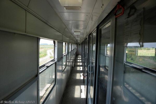 Wir genießen auf dieser langen Zugfahrt sehr den Komfort vom bosnischen GOSA UIC-Z2 Wagen