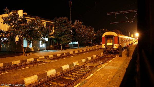 .... zum griechischen Grenzbahnhof Kulata. Auf dem Nachbargleis steht wiedermal ein uns gut bekannter Zug ....