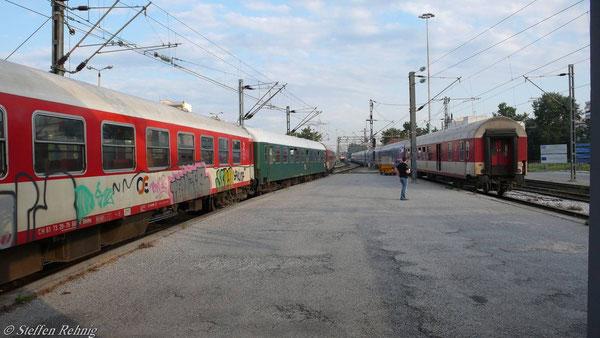 Schnellzug 604 noch mit alten OSE-Wagen (10. Juni 2007)