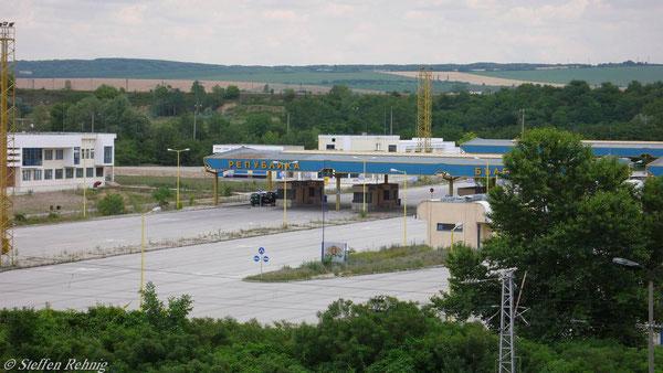 .... danach der bulgarische Straßengrenzübergang ....