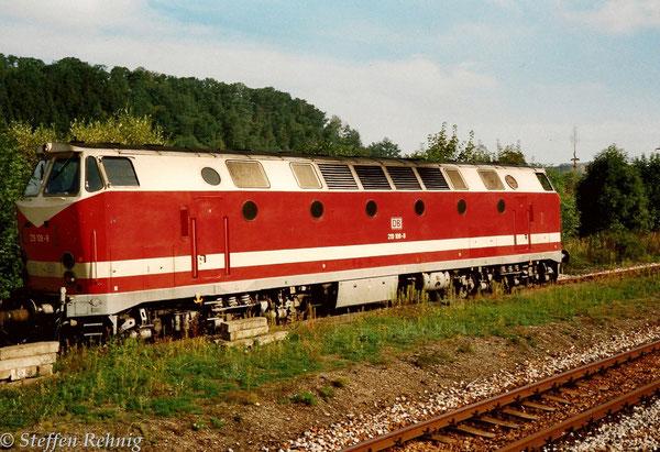 Zuglok 219 108-8 in Loitsch-Hohenleuben ....