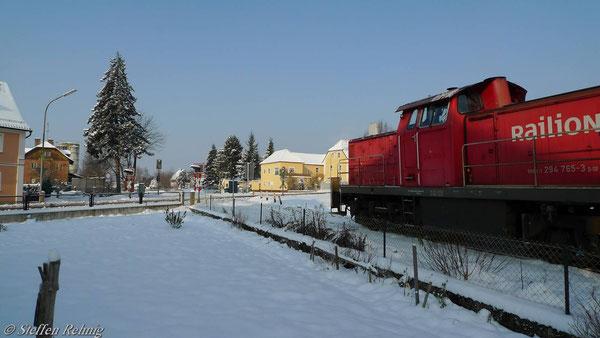 Einfahrt in Schlüsselfeld (2. Dezember 2010)
