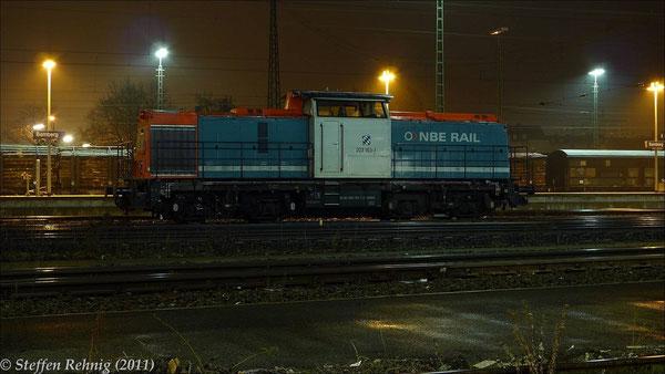 203 163-1 (ex. DR 110 613-7/112 613-5) der NBE in Bamberg (19. Februar 2011)