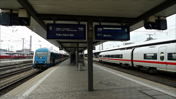 ALX 353 abfahrbereit in Nürnberg hbf (14. April 2012)