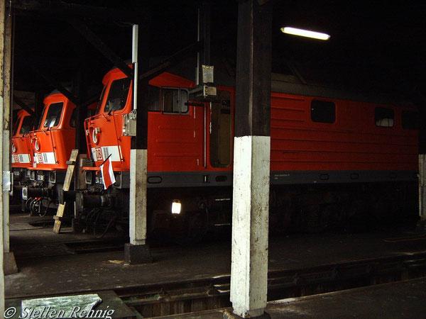 """Abgestellte """"Russen"""" im Bw Nürnberg Rbf im """"Dieselschuppen"""" (18. April 2005)"""