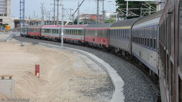 """D 346 """"Dacia"""" Zugspitze: 5x Kurswagen aus Budapest, 2x Kurswagen aus Beograd, 1x Kurswagen aus Sofia (über Beograd) (Wien Juni 2007)"""