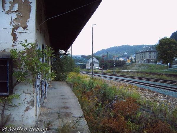 """An der Lokübergabestelle """"Einfahrt"""" (September 2005)"""