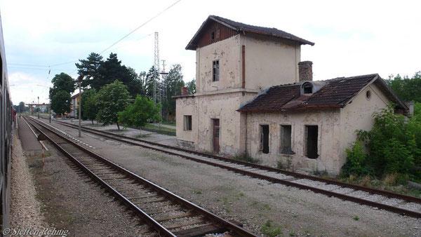 Bahnhof Dve Mogili (Juni 2007)