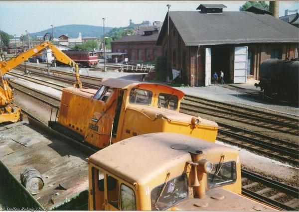 Aufnahme vom Stellwerk B2, Greiz September 1992