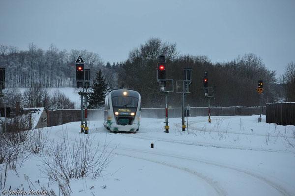 Einfahrt Herlasgrün (Januar 2011)