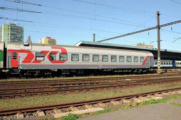 "RZD Schlafwagen 522070-80243-7 (017 04568) Moskva - Cheb am R 606 ""OHRE"" in Cheb (2. September 2011)"