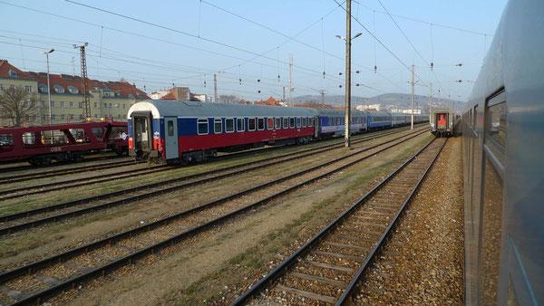 """RZD Schlafwagen im D 406 """"CHOPIN"""" Wien - Moskau (Wien März 2011)"""
