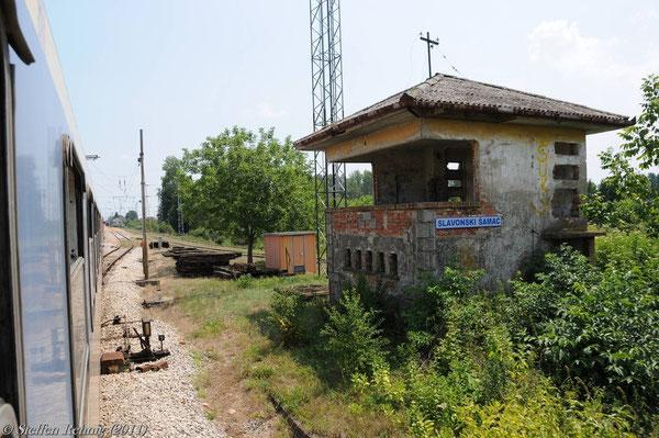 Einfahrt in Slavonski Šamac