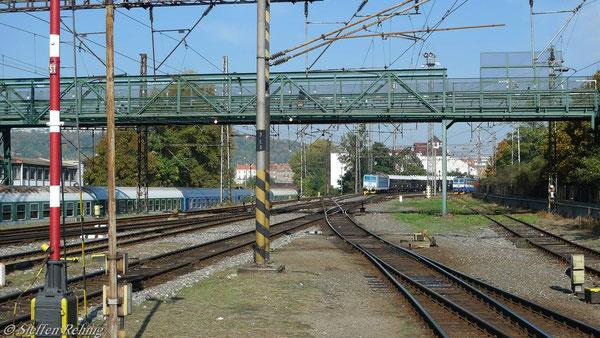 Einfahrt in Schmichov vom Abstellbahnhof kommend