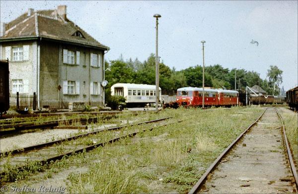 Basdorfer Behelfslokleitung im Rekowagen (1987)