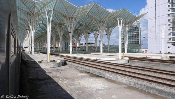 Einfahrt in Lisboa Oriente