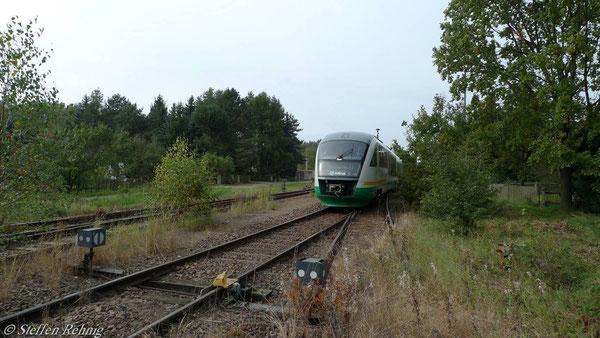 Gleissperre zur DRE-Pachtstrecke Werdau-Wünschendorf-Weida