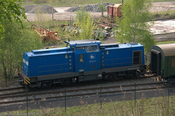 293 021-6 (ex. DR 110 881-0) in Espenhain (25. April 2011)