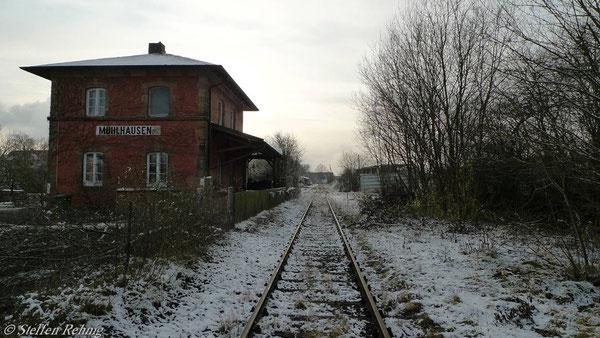 Bahnhof Mühlhausen (27. November 2010)