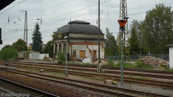 ....das Empfangsgebäude Gößnitz
