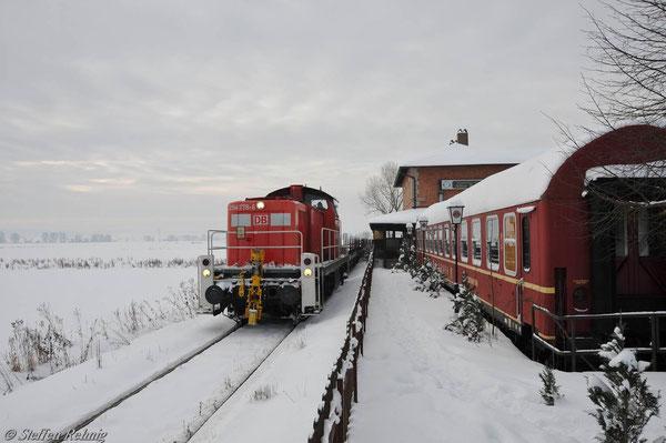 Bahnhof Steppach (28. Dezember 2010)
