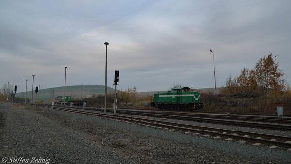 Abgestellte V60 14 in Schmirchau (November 2010)