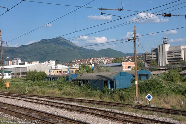ex. DB - Bauzugwagen in Sarajevo