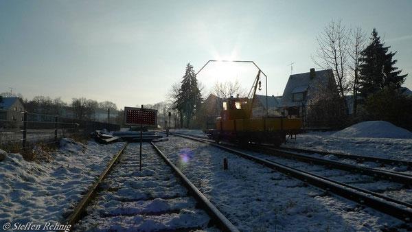 Ausfahrt von Gleis 1 (27. November 2010)