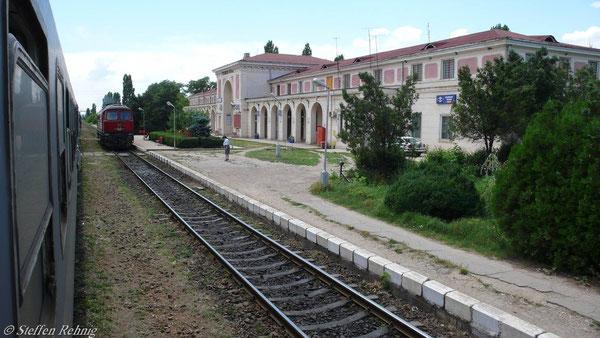 Ankunft im Grenzbahnhof Giurgiu Nord