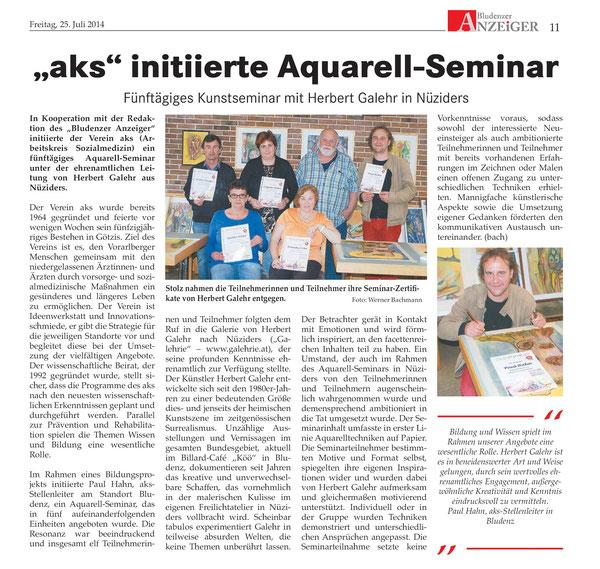 Aquarell-Seminar 2014