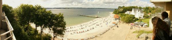 17 Grad: Der Strand ist leer