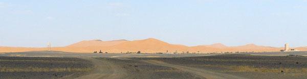 Les dunes de l'Erg Chebbi à Hassi Labied (cliquer pour agrandir)