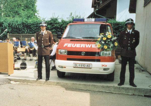 Fahrzeugsegnung MTF im  Mai 2000