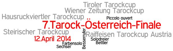 Wordle zum 7.Tarock-Österreich-Finale 2014