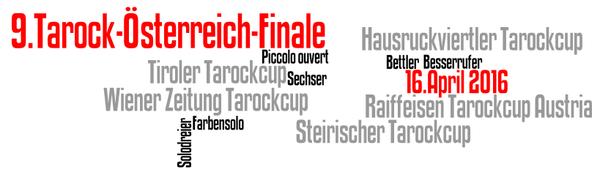 Wordle zum 9. Tarock-Österreich-Finale 2016