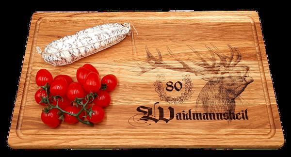 Küchenbrett aus Holz mit Saftrille aus Eichenholz