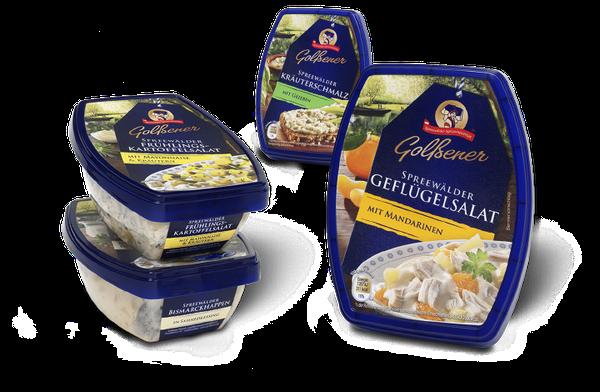 Golßener - Spreewälder Feinkostsalate - Salate - Feinkost - Spreewald - Regional -  Relaunch - Packaging - Design - DesignKis - 2013 - Verpackung