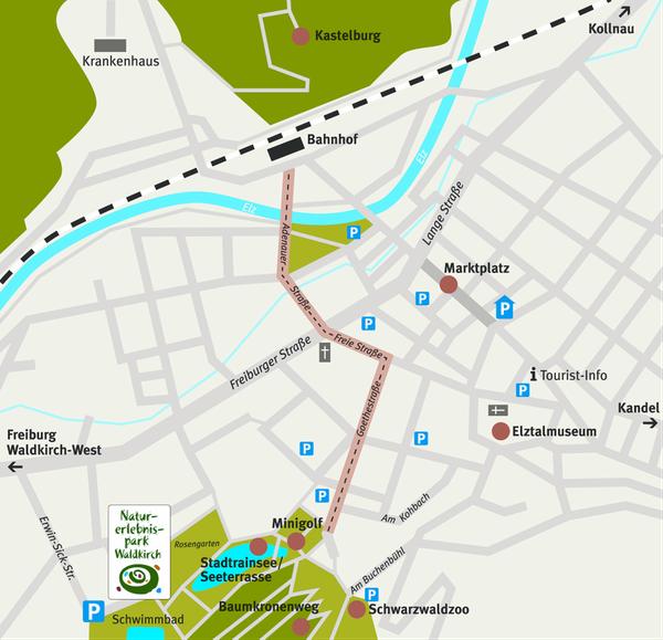 Zur weiteren Vergrößerung dieses Überblicks der Parkmöglichkeiten, Karte  einfach anklicken