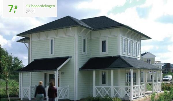 Te huur luxe groepsaccommodatie voor 10 personen met sauna op recreatiepark in Hellevoetsluis in de provincie Zuid-Holland gratis Wifi