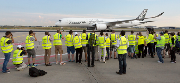 Attracted a lot of attention: Airbus A350 XWB at Frankfurt Airport  /  source: Airbus