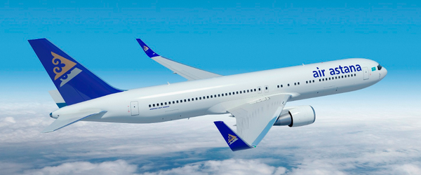 Air Astana is operating a Boeing 767-300ER on their daily Frankfurt to Astana and Almaty route  /  source: Air Astana