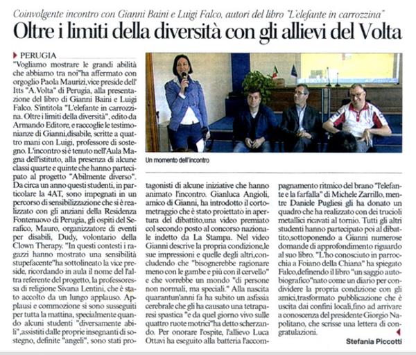 L'articolo a firma di Stefania Picciotti a pag.22