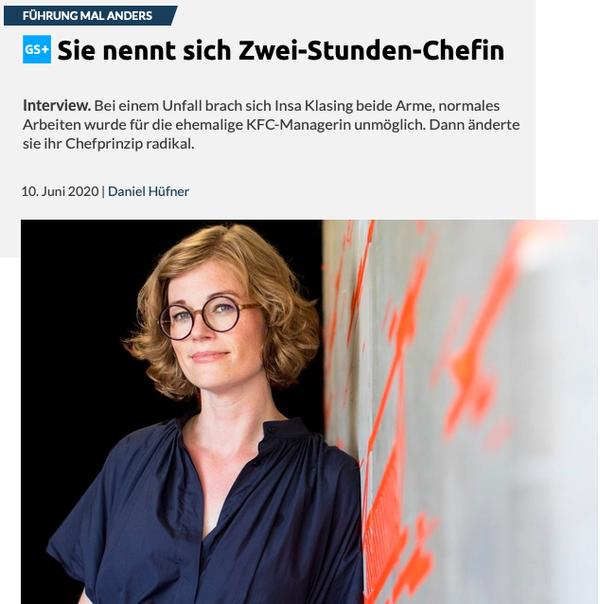 Interview mit Insa Klasing von Daniel Hüfner von Gründerszene (paywall)