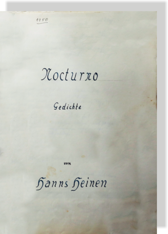 Nocturno - Gedichte von Hanns Heinen, 1950