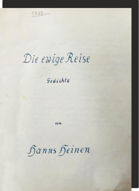 Die ewige Reise - Gedichte von Hanns Heinen, 1950