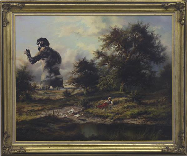 Thilo Droste, Goya auf Unleserlich, Öl auf Leinwand, 70x100cm