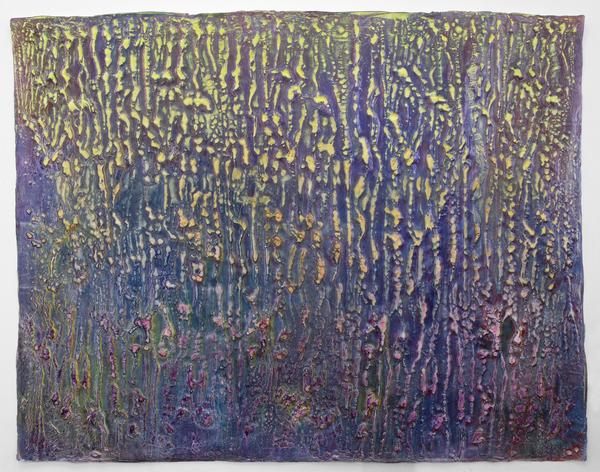 Enrico Niemann, Crust, 112 x 142 cm, 2020  (Acrylfarbe, Papier)