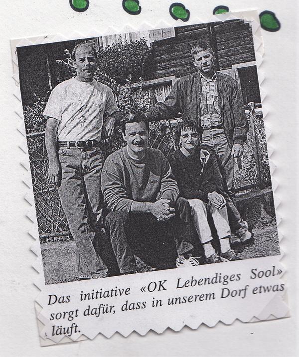 Von li. Walter Wieland, Stefan Mittner, Brigitta Kessler, Dieter Anliker