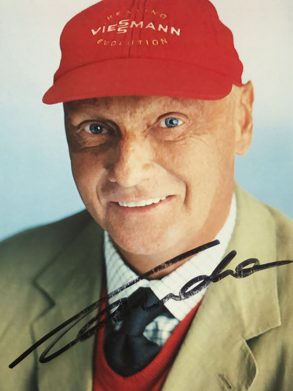 Autograph Niki Lauda Autogramm